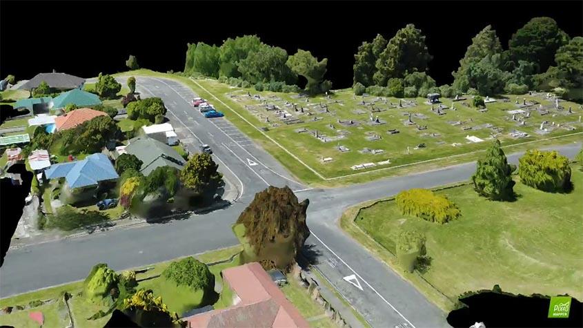Modelado BIM urbano de Tararua creada con dron y software Pix4D